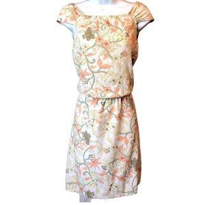VINTAGE | Cap sleeve floral print dress